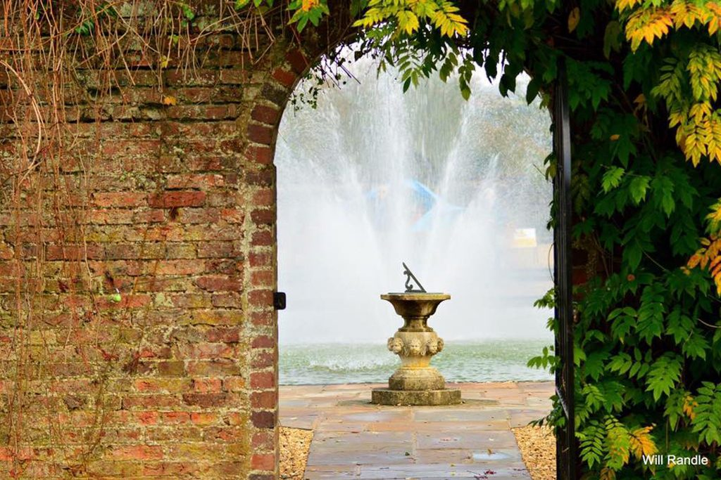 Arley gardens archway with water feature