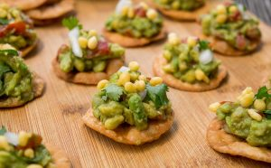 Avocado chaat papdi chaat