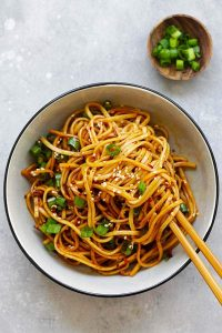 vegetarian spicy noodles