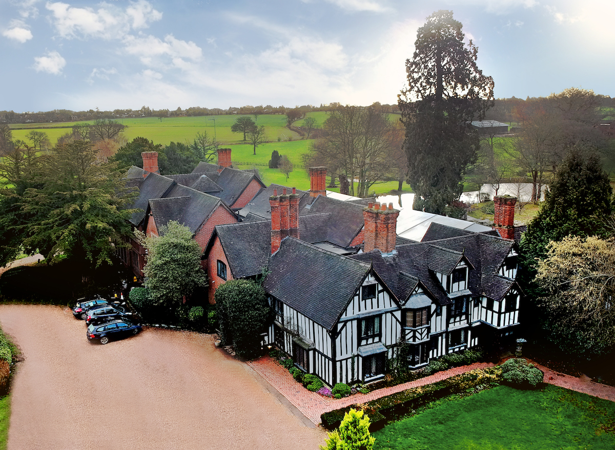 Nailcote Hall Building from above